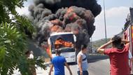 Balıkesir'de yolcu otobüsü yandı: 5 kişi hayatını kaybetti