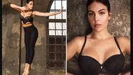 Ronaldo'nun sevgilisi Georgina Rodriguez iç çamaşırı reklamında