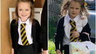 Küçük kızın okul öncesi ve okul sonrası hali sizi güldürecek