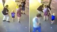 Ailesi ile yürüyen çocuklara bıçakla saldırdı: O anlar kameraya yansıdı