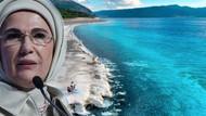 Emine Erdoğan Salda Gölü'nde incelemede bulunacak