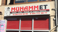 Muhammet adlı lokanta açan esnafın tabelası zabıta tarafından söküldü