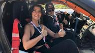 Selin Şekerci co-pilot oldu, drift şovuyla nefes kesti