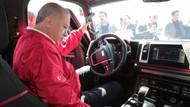 Erdoğan'ın yerli pikap sürüşünde ilginç diyalog: Cam nereden açılıyor?