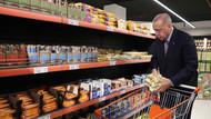 Erdoğan evine yakın markete girdi, fiyatları böyle inceledi