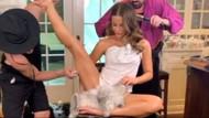 Kate Beckinsale'in, bacağına makyaj yaptırdığı pozları instagramı salladı