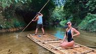 Şeyma Subaşı'nın bambu kayığı