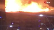 Elazığ'da depremden sonra bir binada yangın çıktı
