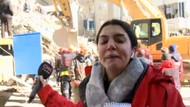 Deprem bölgesinden canlı yayın yapan muhabir, gözyaşlarına hakim olamadı