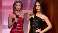 Simge Sağın Gigi Hadid'in 2016'da giydiği elbisenin aynısıyla sahnede