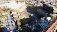 Taş Yapı'nın üç yıldır süren temel kazma çalışması drone ile görüntülendi