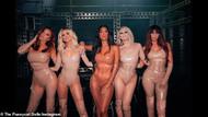 Pussycat Dolls'tan latex bikinili video çekimi!