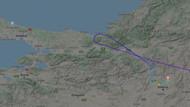 Şüpheli uçak İstanbul'un kıyısından dönmüş!