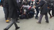 Kızılay binası önündeki Ensar Vakfı protestosuna polis müdahalesi: 16 gözaltı