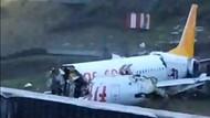 Son dakika: Sabiha Gökçen'de inanılmaz kaza: Pegasus uçağı pistten çıktı, üç parçaya bölündü