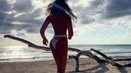 Eda Taşpınar'dan Meksika sahillerinde üstsüz poz