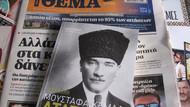 Türkiye'de sansürlendi ama.. Yunan gazetesi Atatürk'ün hayatını anlatan kitap dağıttı