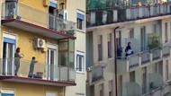 Corona günlerinde aşk! İtalyanlar virüse inat dans ediyor