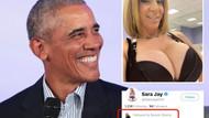 Obama porno yıldızını takibe aldı, sosyal medya yıkıldı