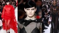 Valentino'dan siyah, kırmızı transparan şov