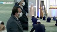 Saraydaki camide koronavirüs önlemli cuma namazı