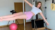Karantinada canı sıkılan Aleyna Tilki direk dansına başladı