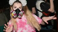 Dünyada koronavirüse karşı takılan sıradışı maskeler
