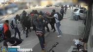 20 kişi sokak ortasında genç kıza saldırdı