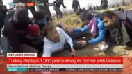 Yunan polisi canlı yayında ateş etti! TRT World muhabiri siper aldı