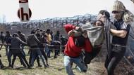 Yunan askerinden Halk TV kameramanına plastik mermi!