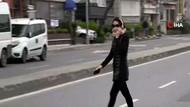 Yasağa rağmen sahile yürüyüşe çıkan kadının sözleri şaşkına çevirdi
