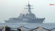 ABD savaş gemisi Çanakkale Boğazı'nda!
