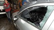 AK Partili vekillerin aracına saldırı