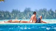 Leonardo DiCaprio ve sevgilisi Bora Bora'da
