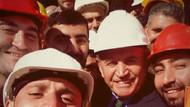 Topbaş'tan işçileri kırmayayım selfiesi