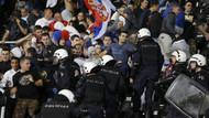 Belgrad'da bayrak krizi çıktı