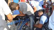 Kalçasına bisikletin telleri battı