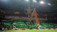 Galatasaray taraftarından Fenerlileri çıldırtan kareografi