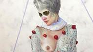 Çilek seven kadın tablosuna sansür