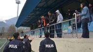 Maçta olay çıktı, polis havaya ateş açtı