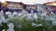 Seyircisiz maçta gaz bombası