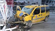 Timsah Arena'nın vinci taksiye düştü: 1 ölü, 1 yaralı