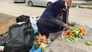 Çöpten sebze toplayan kadın 4 aydır kirayı da ödeyemiyor