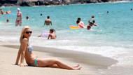 Alman turistler uzun tatili seviyor