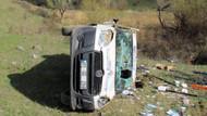 Çarptığı yayayı hastaneye götürürken kaza yaptı!