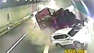 İnanılmaz kaza saniye saniye görüntülendi