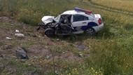 Trafik kazasında bir polis şehit oldu