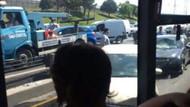 Metrobüs yolunda feci kaza! Makas yapan otomobil..