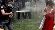 Kırmızılı kadın'a gaz sıkan polise fidan dikme cezası!