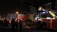 TEM'de devrilen kamyon trafiği felç etti